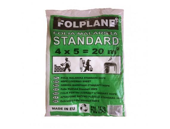 Защитная пленка Folplane 4x5 м LDPE 7 мк ВК прозрачная