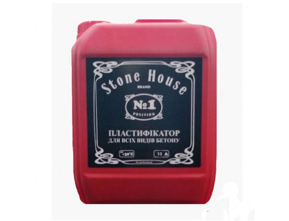 Пластификатор для всех видов бетона №1 Stonehouse 10 л