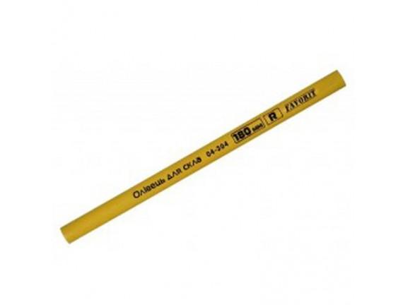 Карандаш для стекла Favorit 180 мм желтый