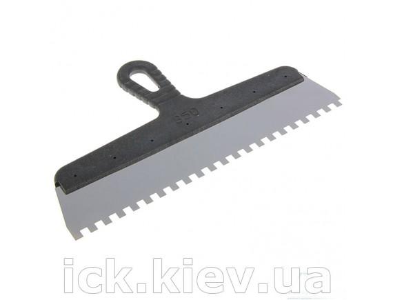 Шпатель с пластиковой ручкой 350 мм зуб 8х8 мм