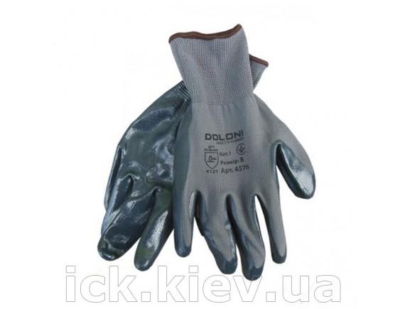 Перчатки Doloni вязаный нейлон Серый нитрил