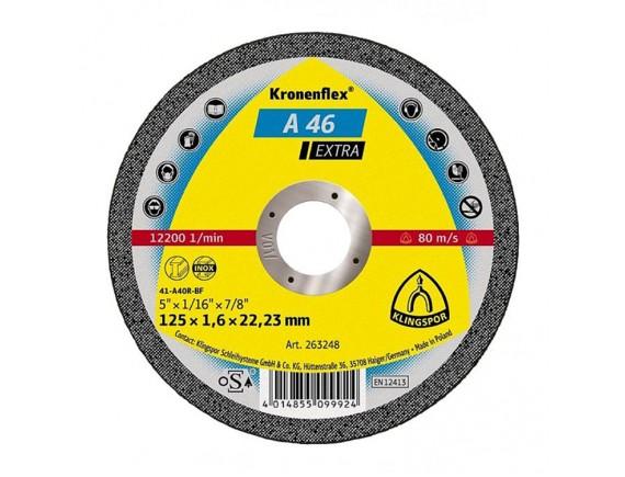 Диск отрезной по металлу Klingspor 125х1,6х22 мм