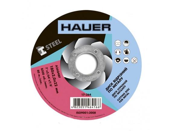 Диск отрезной по металлу Hauer 180х1,6х22 мм