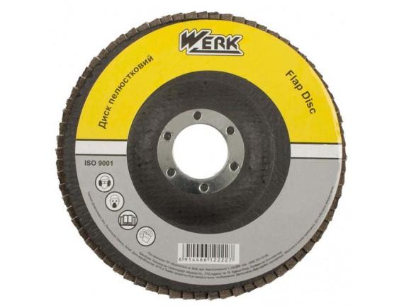 Диск лепестковый плоский Werk А120 125х22,2 мм