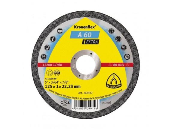 Диск отрезной по металлу Klingspor 125х1,0х22 мм