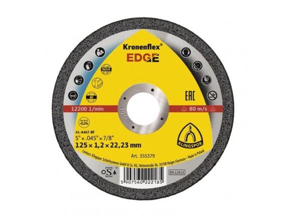 Диск отрезной по металлу 125х1,2х22 мм Klingspor EDGE уп 25 шт