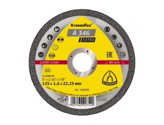 Диск отрезной Klingspor Turbo кромка по металлу 125х2х22,23 мм