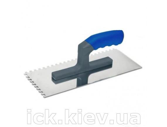 Гладилка сталь 120х280 мм зуб 10х10 мм