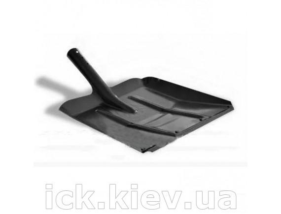 Лопата для снега металлическая 360х340 мм без держака