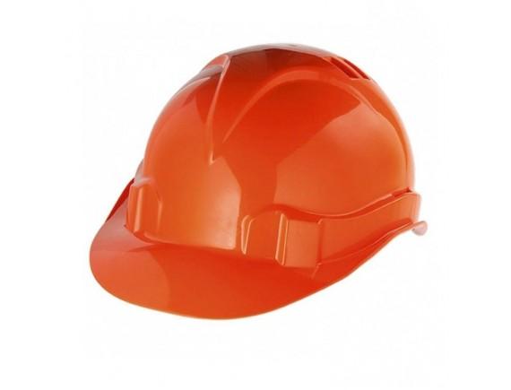 Защитная каска с ударостойкой пластмассы оранжевая