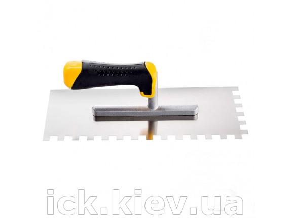 Гладилка Hardy 28х12 см, нерж.сталь, зуб 10х10 мм