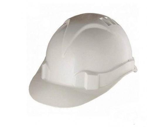 Каска защитная с ударостойкой пластмассы, белая