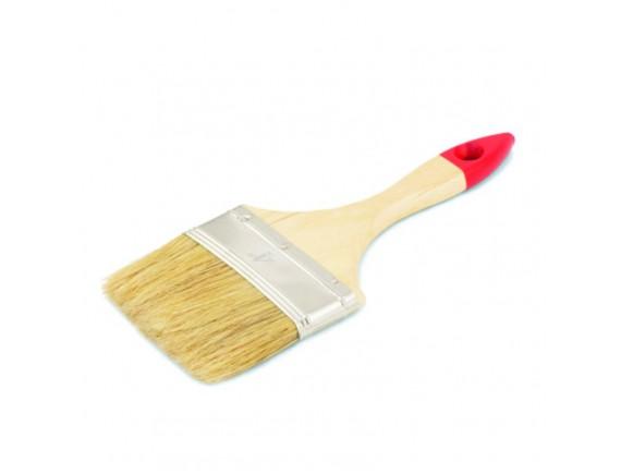 """Кисть флейцевая """"Стандарт"""" 4 деревянная ручка 102 мм"""