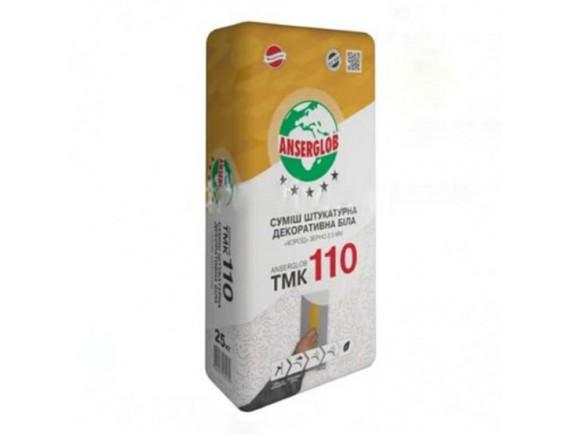 Смесь штукатурная декоративная белая короед Anserglob TMK 110 2,5 мм 25 кг