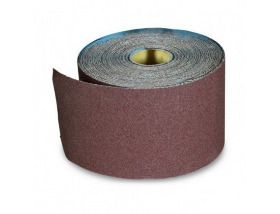 Наждачная бумага на тканевой основе, водостойкая, 200 мм х 10 м, зерно 40