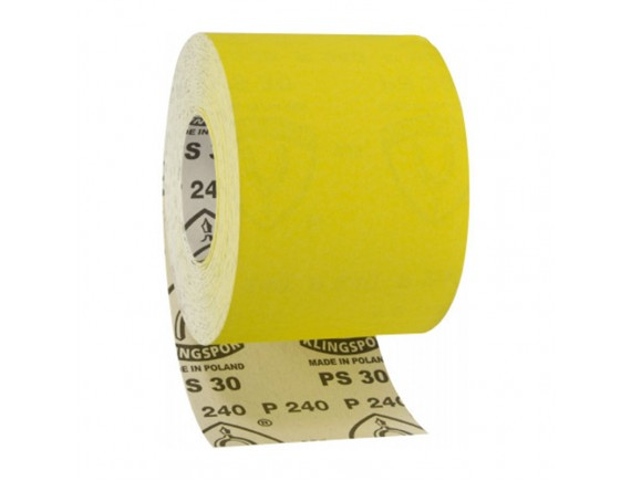 Наждачная бумага на бумажной основе Klingspor рулон 115х3000 мм зерно 240