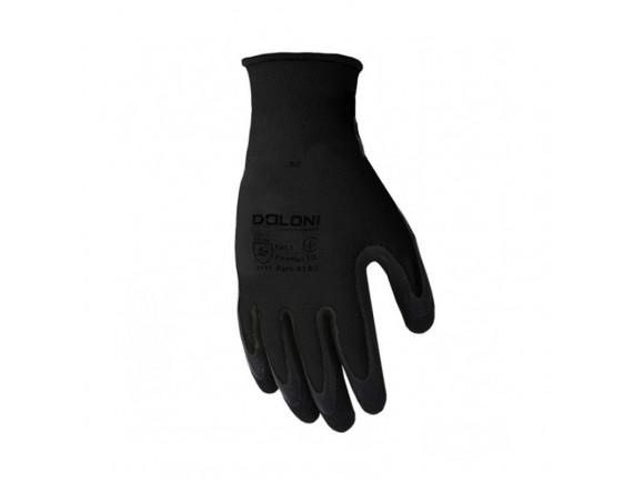 Перчатки DOLONI полиамид латекс черные