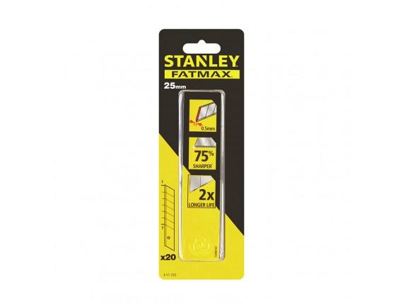 Лезвие ножа STANLEY сегментированные 25 мм 20 шт/уп