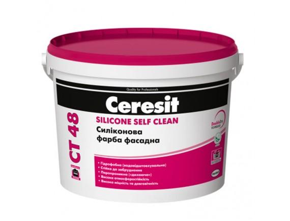 Краска силиконовая Ceresit СТ-48 10 л белая