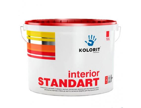 Краска интерьерная латексная Kolorit Стандарт-3 9 л