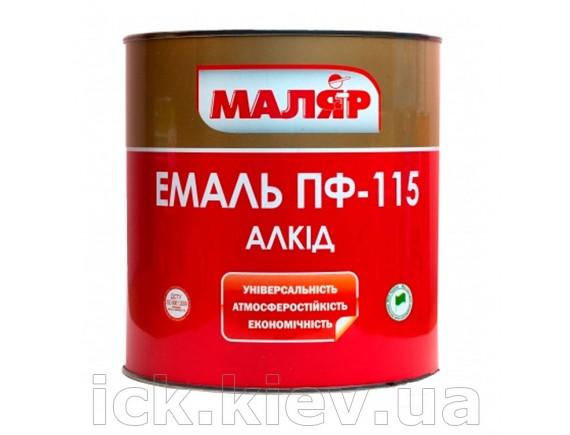 Эмаль Маляр ПФ-115 0.8 кг коричневая