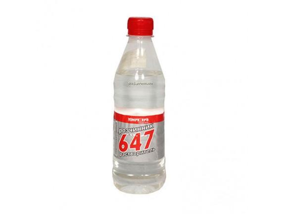 Растворитель - 647 Химреактив бесцветный 1 л