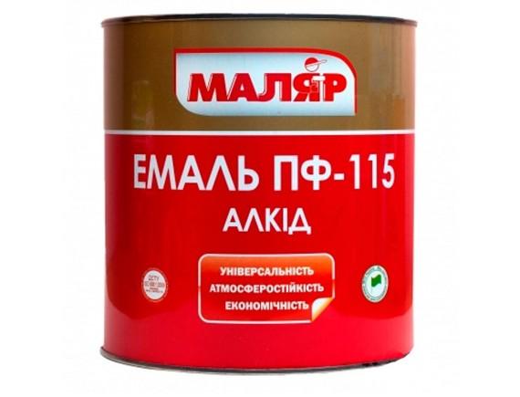 Эмаль Маляр ПФ-115 0.8 кг серая