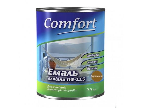 Эмаль ПФ-115 Комфорт коричневая 0,9 кг