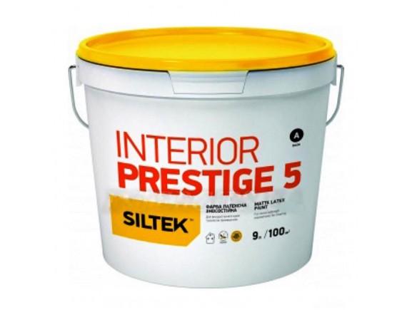 Краска латексная Interior Prestige 5 База A 9 л