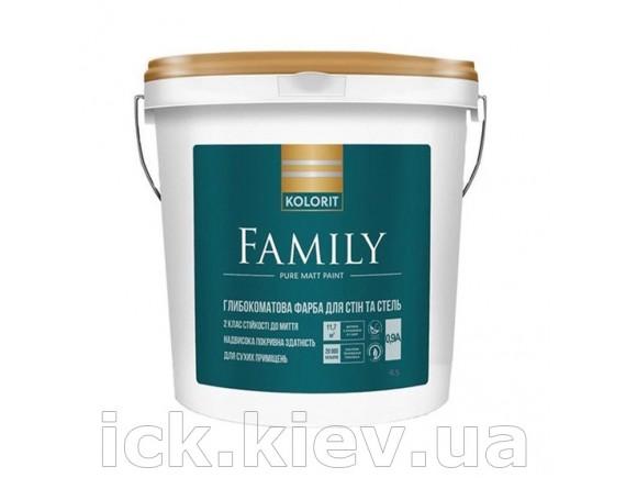Краска акрилатная Kolorit Family база А 0.9 л