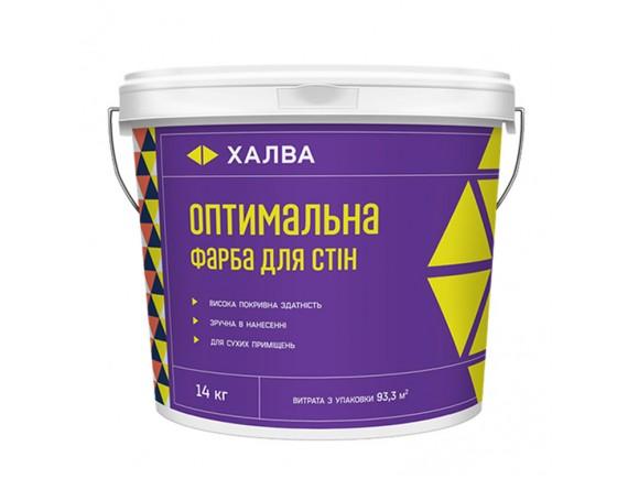 Краска акриловая Халва Оптимальная для стен 14 кг