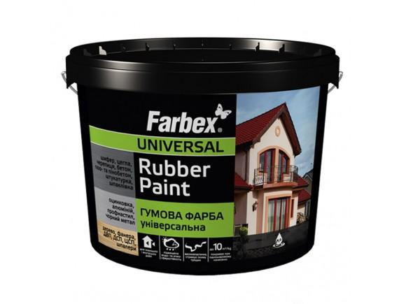Краска резиновая универсальная серая Farbex 6 кг