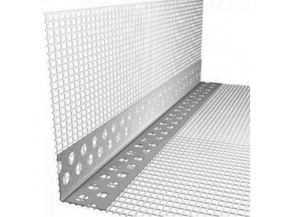 Уголок ПВХ перфорированный с сеткой 7x7 3m