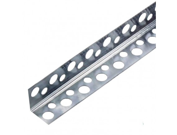 Уголок перфорированный алюминиевый 0.2 мм 2.5 м