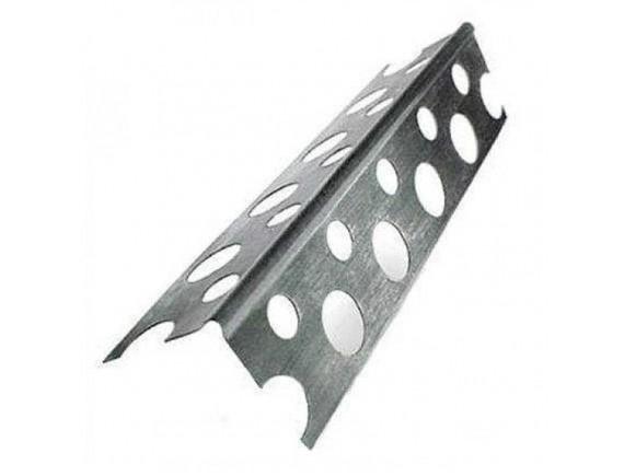 Уголок алюминиевый перфорированный усиленный плюс 3.0 м 0,4 20х20 мм