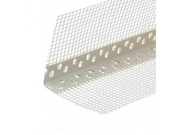 Уголок ПВХ перфорированный с сеткой 10х10 см, 3 м
