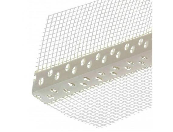 Уголок ПВХ перфорированный с сеткой 7х7 см, 3 м