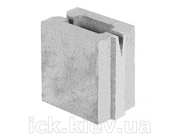 Блок керамзитобетонный перегородочный 160х110х200