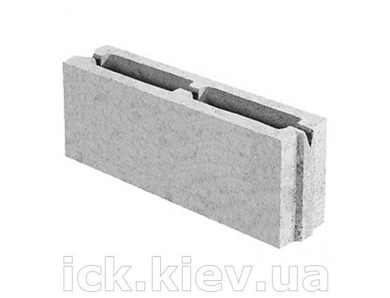 Блок бетонный перегородочный 390x90x188 мм