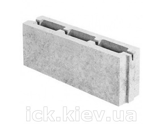 Блок бетонный перегородочный 500x80x188 мм