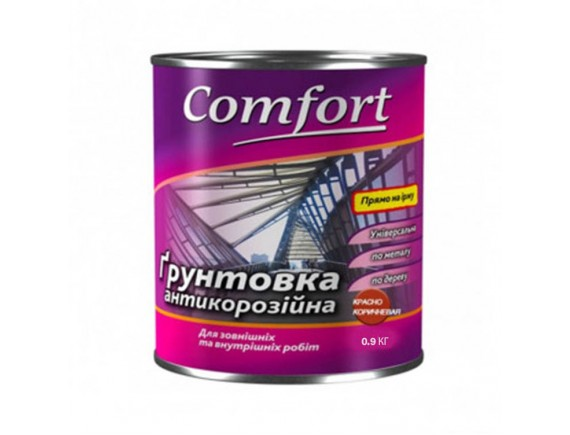 Грунт Comfort Гф-021 красно коричневый 0.9 кг