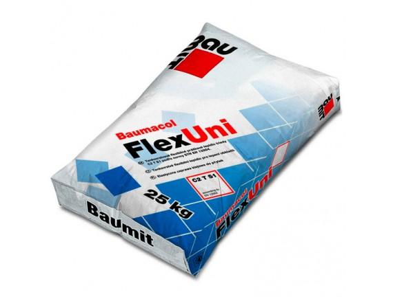 Клей для плитки эластичный Baumit FlexUni 25 кг