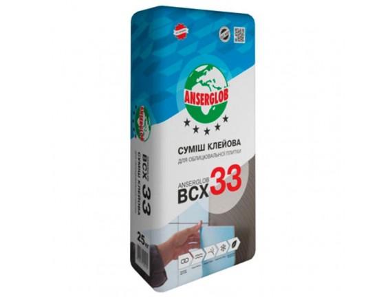 Смесь клеевая для облицовочной плитки Anserglob ВСХ 33 25 кг