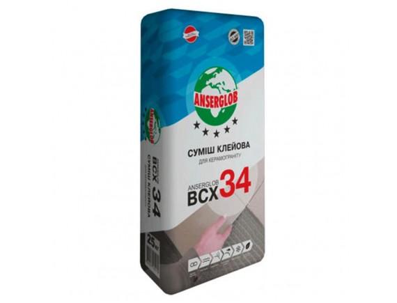 Cмесь клеевая для керамогранита Anserglob BCX 34 25 кг