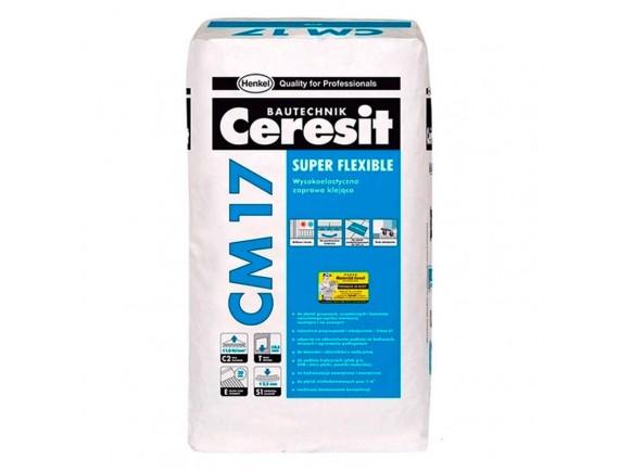 Клей для плитки и теплого пола Ceresit СМ-17 Super flexible 25 кг