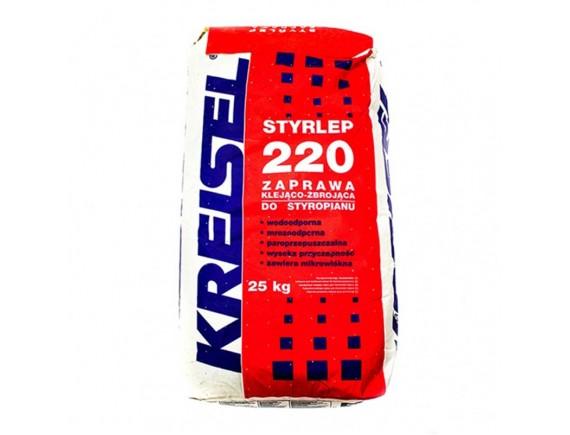 Клей для пенополистирола КREISEL STYRLEP Зима 220 25 кг