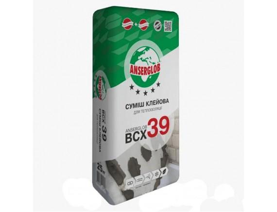 Смесь клеевая для теплоизоляции Anserglob BCX 39 25 кг