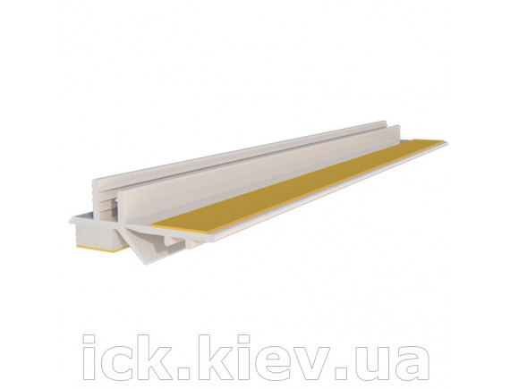 Профиль приоконный ПВХ 3x9 мм 2.5 м белый