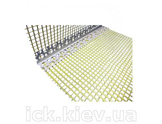 Уголок пластиковый с сеткой 100x150 мм 2,5 м Галич Профиль