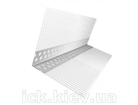 Уголок ПВХ перфорированный с сеткой Галич Профиль 3,0м 7х7 см